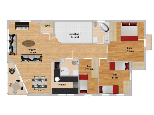 Eladó lakás 98m2 Budapest, XI. kerület Sashegy